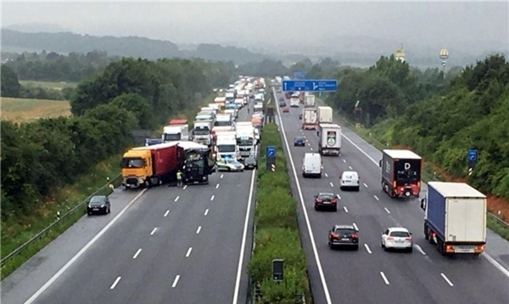 Autobahn A2 Unfall