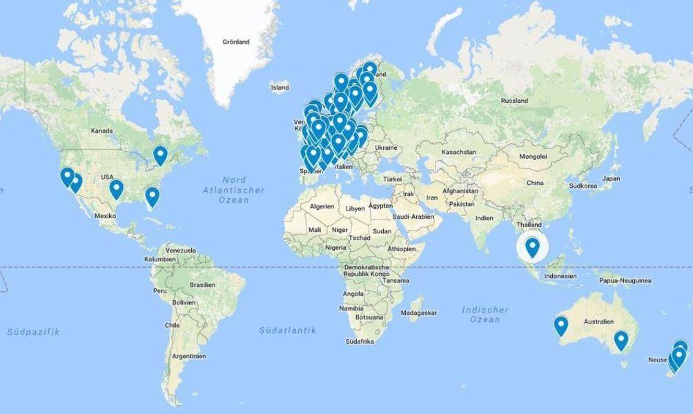 die weltkarte Die Weltkarte der VW Fans die weltkarte